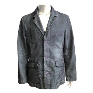 Men's Casual Corduroy Single Breasted Jacket Large